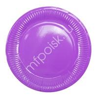 Y 18см Тарелки бумажные ламинированные Purple 6шт