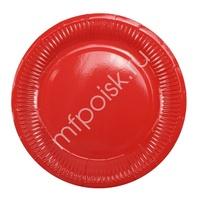 Y 18см Тарелки бумажные ламинированные Red 6шт