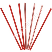 Y Трубочки бумажные ассорти Red 12(6+6)шт