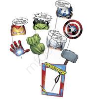 PR Набор для фотосессии Марвел Супергерои 9шт