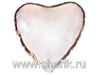 "1204-0075 Ф Б/РИС 4"" СЕРДЦЕ Металлик Silver(FM)"