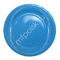 Y 18см Тарелки бумажные ламинированные Blue 6шт