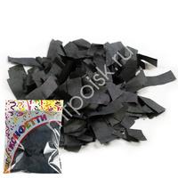 AC Конфетти бумажное 100гр 2*5см Прямоугольники черные
