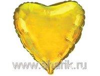 "1204-0071 Ф Б/РИС 4"" СЕРДЦЕ Металлик Gold(FM)"
