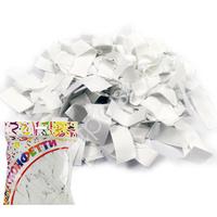 AC Конфетти бумажное 100гр 2*5см Прямоугольники белые