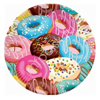P 18см Тарелки бумажные Пончики 6шт