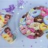 P 200мл Стаканы бумажные Пончики 6шт