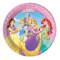 Pc 20см Тарелки бумажные ламинированные Принцессы Герои 8шт