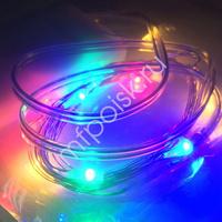 Y Светодиодная нить разноцветная, тип батареек АА, 3м