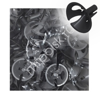 Eq Зажимы Серый металлик 100шт/уп