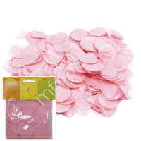 Y Конфетти бумажное Круги розовые 2,5см 14гр