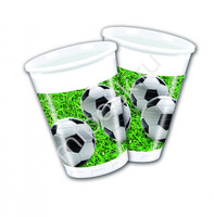 Pc Стаканы пластиковые Футбол 200мл 8шт
