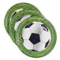 Pc Тарелки бумажные Футбол 23см 8шт