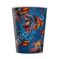 Стаканы бумажные Супермен 200 мл 6 шт