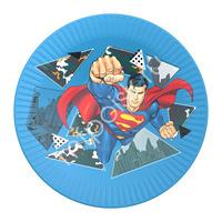 Тарелки бумажные Супермен 18 см 6 шт