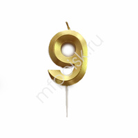 Свеча 5см Цифра Gold 9