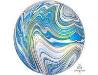 "1209-0326 А 3D СФЕРА Б/РИС 16"" Мрамор Blue"