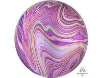 """1209-0327 А 3D СФЕРА Б/РИС 16"""" Мрамор Purple"""