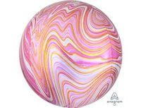 "1209-0328 А 3D СФЕРА Б/РИС 16"" Мрамор Pink"
