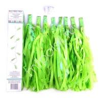 Y Гирлянда Тассел зеленые кисточки