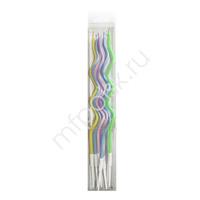 Свечи Спираль Макарунс 13 см 6 шт