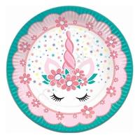P 18см Тарелки бумажные Единорог Pink&Tiffany 6шт