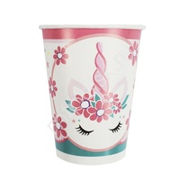 P 200мл Стаканы бумажные Единорог Pink&Tiffany 6шт