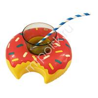 Y Подставка надувная Пончик малиновый 20см