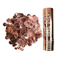 AC 20см Пневмохлопушка Rose Gold конфетти