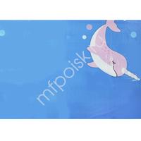 F 140см X 180см Скатерть полиэтиленовая Морской Единорог