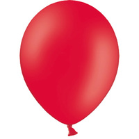 Шар (10''/25 см) Красный, пастель, 100 шт.